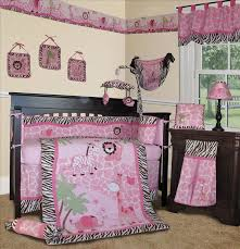 Crib Bedding Jungle Baby Boutique Pink Safari 15 Pcs Nursery Crib Bedding Set
