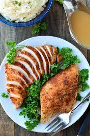 cooker turkey breast and gravy garnish glaze