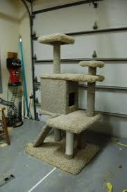 how to make an large cat tree for cheap