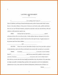 sample last will and testament forms 6 free documents in word