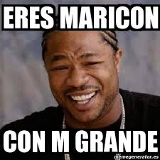 Maricon Meme - meme yo dawg eres maricon con m grande 15835178