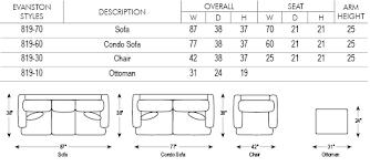 Standard Sofa Size by Evanston Sofa Norwalk Furniture