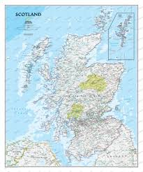 National Geographic Map Scotland Wall Map Countries Wall Maps National Geographic Maps