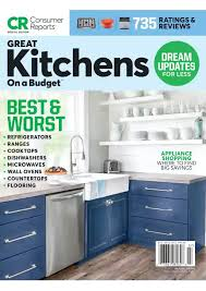 consumer reports best paint for kitchen cabinets consumer reports great kitchens on a budget july 2021