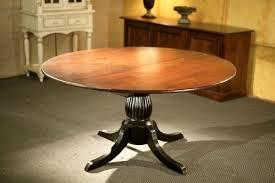 Kitchen Pedestal Table Round Kitchen Tables With Black Fluted Pedestal Ecustomfinishes