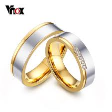 aliexpress buy vnox 2016 new wedding rings for women online shop vnox 2016 hot wedding rings for women men anillos gold