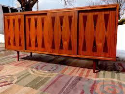 mid century modern vintage furniture danish sofa credenza tables