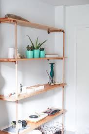 How To Make A Pipe Bookshelf Diy Copper U0026 Wood Shelf U2014 Treasures U0026 Travels