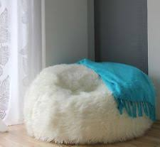 fur bean bean bag covers furniture ebay