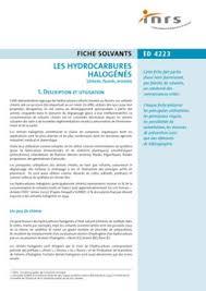 les halogenes les hydrocarbures halogénés chlorés fluorés bromés brochure