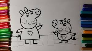 coloring peppa pig brushing teeth coloring pages for kids youtube
