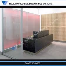 Acrylic Reception Desk China Modern Design Acrylic Solid Surface Reception Desk Curved