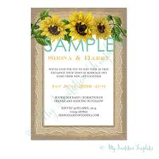 sunflower wedding invitation template sample
