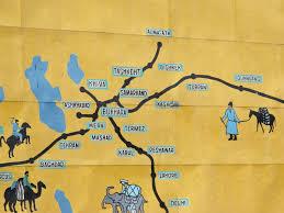 Silk Road Map Traveling The Silk Road U2013uzbekistan