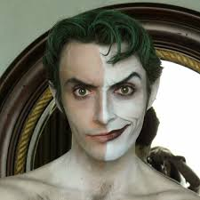 Joker Halloween Make Up Joker Half Makeup Jester Jester Pinterest