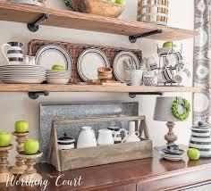 kitchen sheved late summer farmhouse open kitchen shelves worthing court