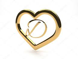 gold jewelry heart with letter d inside u2014 stock photo