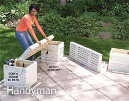 Deck Planters And Benches - how to build an arbor with built in benches arbors benches and