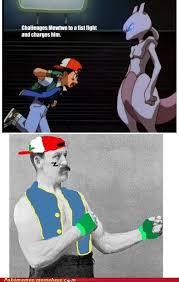 Manly Man Meme - overly manly ash pokémemes pokémon pokémon go