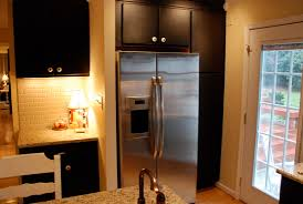 Painted Black Kitchen Cabinets Before And After Dare You To Paint Your Cabinets Black Emily P Freeman