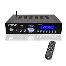 top amplifiers for home theater amazon com premium bluetooth stereo amplifier 200 watt compact