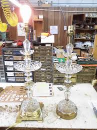 Brass And Crystal Table Lamps Lamp Parts And Repair Lamp Doctor Large Crystal Table Lamps