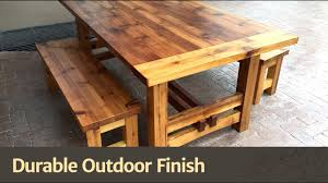 Wooden Outdoor Furniture Durable Outdoor Finish Youtube