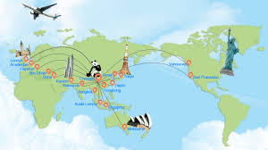 Singapore Air Route Map by Air