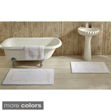 Cotton Bathroom Rugs Authentic Hotel And Spa Turkish Cotton Bath Mat Set Of 2 Free