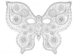Grand masque de papillon à colorier