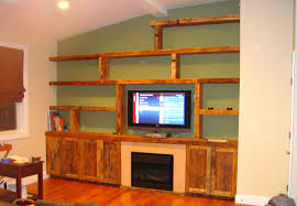 outstanding homemade wall decoration ideas decoration ideas diy solid wood tv wall unit with minimalist