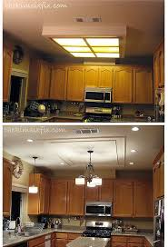 Ceiling Lights For Kitchen Remodel Flourescent Light Box In Kitchen We Also Replaced The