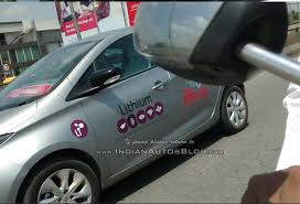 renault zoe engine renault zoe electric hatchback spotted in bangalore