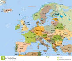 mapa europe map europe detailed stock illustration illustration of concept