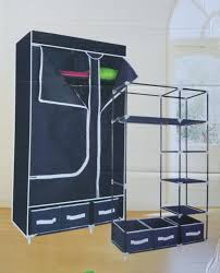 Wardrobe Online Shopping Buy Home Basics 2 Door Blue Yy 8108 Folding Wardrobe Cupboard