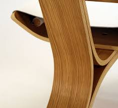 Plywood by Stylish Chair Made Of Bent Plywood And Leather U2013 Kurven Home