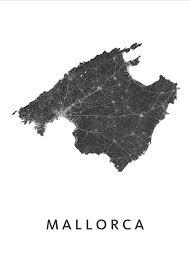 Majorca Spain Map White Map