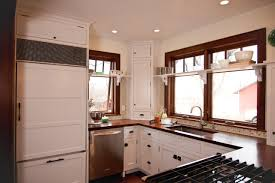 bedroom bin pulls on cabinet latch in farmhouse kitchen plus bin pulls on cabinet latch in farmhouse kitchen plus corner shelf unit with crown moulding also dark wood casing and double hung windows with recessed