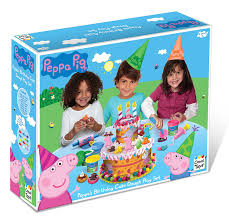 peppa pig cake peppa pig ultimate dough play set with cutting moulds cutters