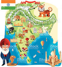Bhopal India Map by Cartoon Map Of India Stock Vector Art 165816237 Istock