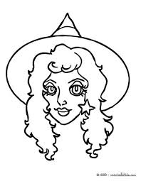 happy witch halloween night flight coloring pages hellokids