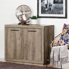 Oak Storage Cabinet South Shore Cabinet Furniture Decor The Home Depot