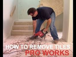how to remove floor ceramic tiles from cement sub floor