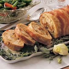 stuffed turkey roll recipe stuffed turkey ground turkey and bacon