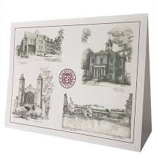 single bates building sketches greeting card bates college store