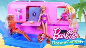 barbie cars from the 90s barbie rv camper with jojo siwa dol u0026 disney princess going
