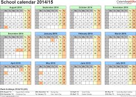 calendars 2014 2015 as free printable excel templates