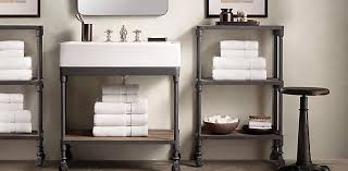 Dutch Industrial Bath Collection Weathered Zinc Rh Bathroom Fixture Collections
