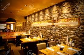 interior cafe with stylish stone wall stock photo picture and