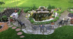 Backyard Pond Landscaping Ideas Landscape Ideas For Front Yard No Grass Low Water Landscaping